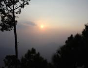 Sun set @Kasardevi temple