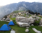 Triund camping grounds